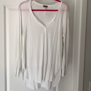 Anthropologie l.d. by line dry white Henley - M